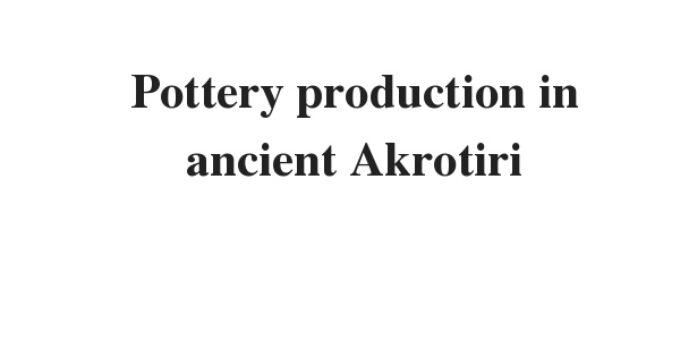 ( Update 2021) Pottery production in ancient Akrotiri | IELTS Reading Practice Test
