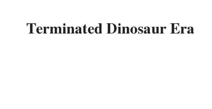 ( Update 2021) Terminated Dinosaur Era | IELTS Reading Practice Test
