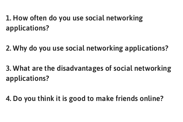 IELTS Speaking Part 1 Topic Social Networking