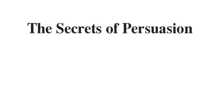 ( 2021)The Secrets of Persuasion   IELTS Reading Practice Test