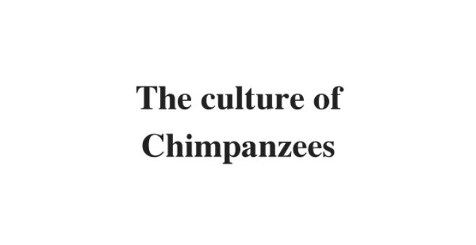 (Update 2021) The culture of Chimpanzees | IELTS Reading Practice Test