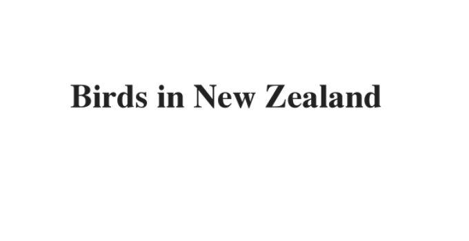 (Update 2021) Birds in New Zealand  | IELTS Listening Part 4 Free