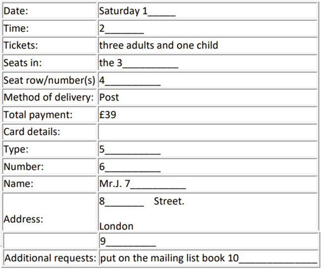 THEATRE ROYAL PLYMOUTH Booking Form