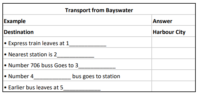 Transport from Bayswater