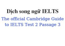 (Update 2021)  Dịch song ngữ The Official Cambridge Guide to IELTS – Test 2 – Passage 3 Free